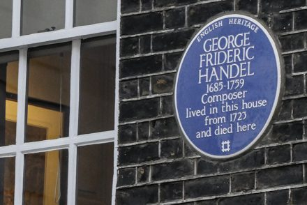 Blue Plaque, Handel House, London
