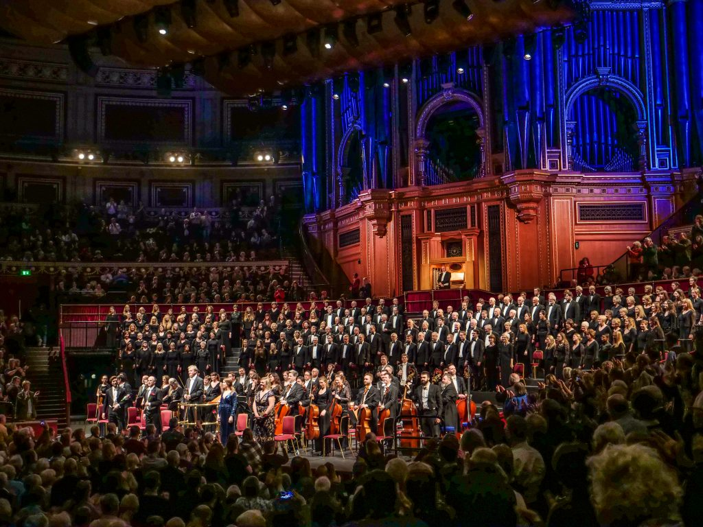 The Royal Choral Society performing Messiah at Easter at The Royal Albert Hall, London