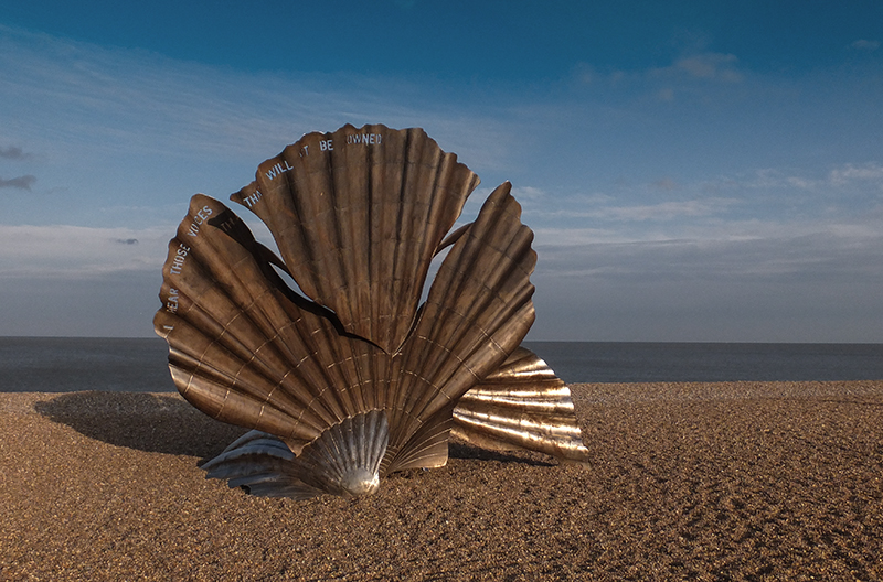 The Scallop by Maggi Hambling, discovering Benjamin Britten's Aldeburgh