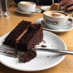 coffee and cake at Snape Maltings, Suffolk
