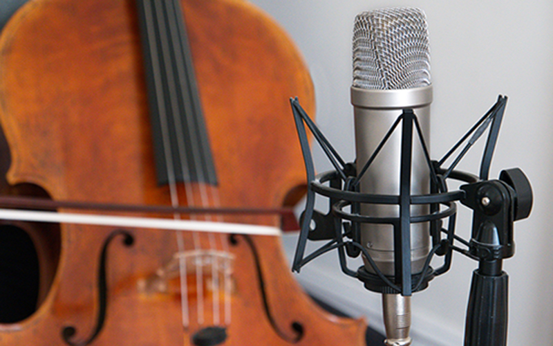 Home Recording setup with Cello and Microphone